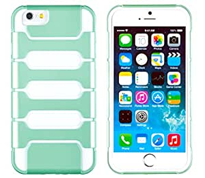 "iPhone 6 Plus + Case, DandyCase 2in1 SURVIVOR Full-Body Dual Layer Shock-Protector Slim Case Cover for Apple iPhone 6 Plus (5.5"" screen) - LIFETIME WARRANTY (Mint Green & White)"