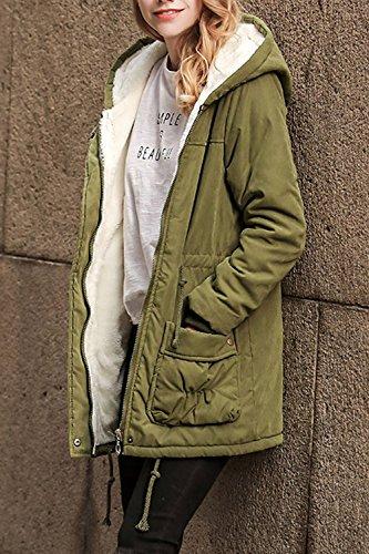 L'hiver S'épaissit Occasionnels Femmes Longue Veste Parka Pardessus Chaud Extérieur De La Tenue. green