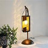 Romantique Romantique Lampe De Bambou Creative Lumières Décoratives Fer Forgé...