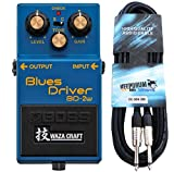 BOSS BD-R 2 W Blues Driver WAZA Craft keepdrum Câble de guitare 3 m