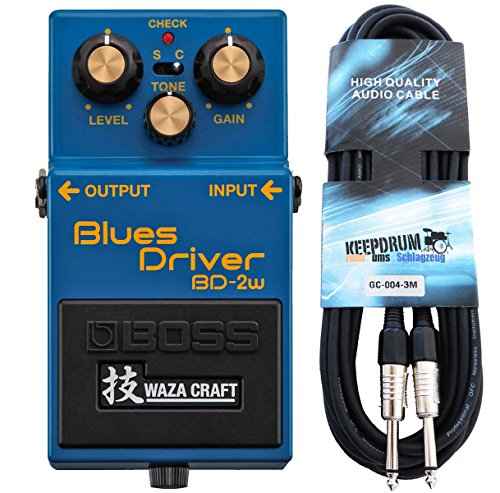 Boss BD de 2 W Blues Driver waza Craft Keepdrum de guitarra cable 3 m