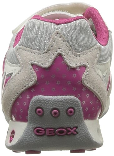 Geox J N.Jocker G.C, Baskets mode fille Blanc (White/Fuchsia)