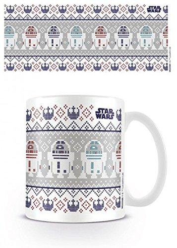 1art1 Star Wars, R2-D2, Xmas Foto-Tasse Kaffeetasse (9x8 cm) Inklusive 1x Überraschungs-Sticker