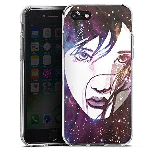 Apple iPhone X Silikon Hülle Case Schutzhülle Gesicht Galaxy Mädchen Silikon Case transparent