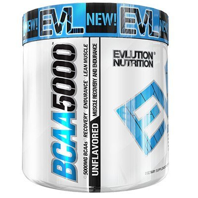 Evlution Nutrition BCAA5000 Powder (60 Servings, Unflavored) 5 Grams of Premium BCAAs by Evlution