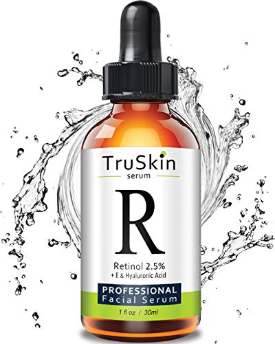 BEST TruSkin Naturals Retinol Serum for Wrinkles & Fine Lines | 2.5% Vitamin A + Hyaluronic Acid, Vitamin E, Organic Green Tea, Aloe Vera & Jojoba Oil | Deeply Penetrates Skin to Reduce Wrinkles & Fine Lines and Unclog Pores & Treat Acne | Works Best With TruSkin Naturals Vitamin C Anti Aging Serum -USA- - Line Filler