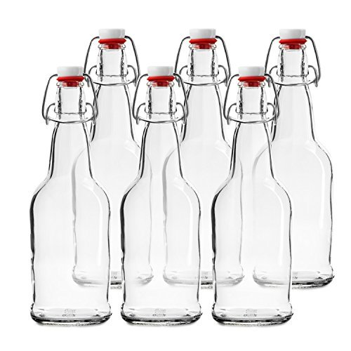 Chef's Star CASE OF 6 - 16 oz. EASY CAP Beer Bottles - CLEAR by Chefs Star?? (Kombucha Caps)
