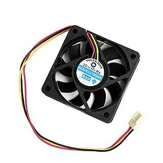 Aukson R04 3pin 12V 60x60x15mm Brushless Lüfter Lüfterkühler Kühler Lüfter Computer PC, Schnittstelle: 3pin, Arbeitsleben : 50.000 Stunden