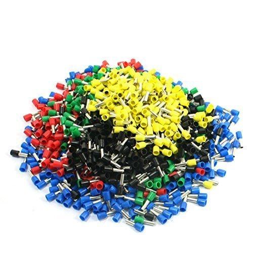 sourcingmap® Terminali cavo pre-isolati, colori assortiti E4009 12AWG (950 pezzi)