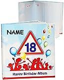 alles-meine.de GmbH Geburtstag -  18 Jahre - Happy Birthday  - Incl. Name - Erinnerungsalbum / F..