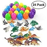 Theefun 24 Pezzi Uova di Pasqua di Dinosauro, Dragone, per Divertimento dei Bambini