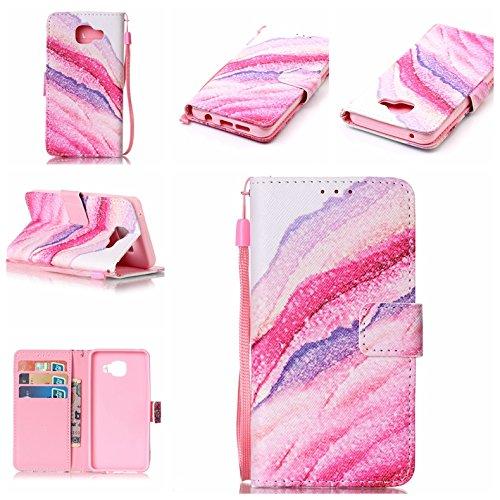 Qiaogle Telefon Case - PU Leder Wallet Schutzhülle Case für Apple iPhone 7 (4.7 Zoll) - YB25 / Baum YB22 / Sandwellen