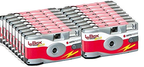 AgfaPhoto Einwegkameras Flash/ Blitz Partei/Hochzeit Set (10-er Packbis zu 270 Aufnahmen)