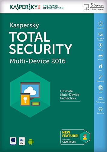 Kaspersky Total Security 2016 Multi Device - 3 Device - 1 Year FFP (PC/Mac/Android)