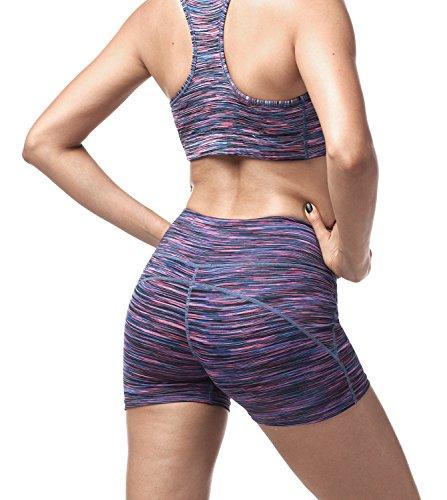 Lapasa Damen Sport Shorts, Damen Sportshort, L009 Blaulila