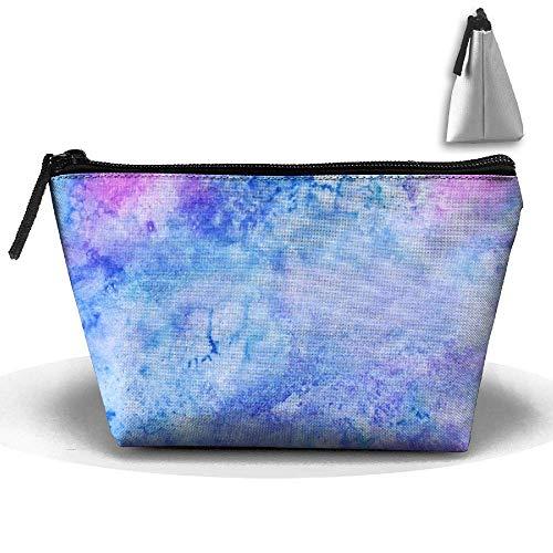 Watercolour Abstract Trapezoidal Storage Bag Double Print Handbag Zipper Package Coin Purse Cosmetic Pouch Wallet Pencil Holder Zipper makeup bag