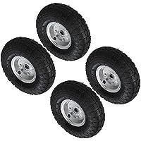 "Pack Of 2 - 10"" Pneumatic Wheels For Sack Trucks / Trolleys / Wheelbarrows."