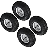 "Pack Of 2 - 10"" Pneumatic Wheels For Sack Trucks / Trolleys / Wheelbarrows."
