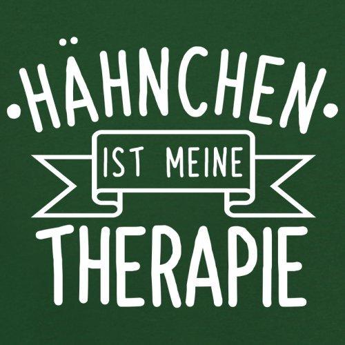 Hähnchen ist meine Therapie - Herren T-Shirt - 13 Farben Flaschengrün