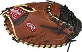 Rawlings Unisex arena Sandlot serie piel guante de catcher, Regular,–sólido Web, 33cm, tan|black, 33'