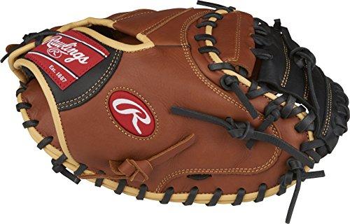 Rawlings Unisex Sand Sandlot Series Leder Catcher 's Mitt, Regular,, massivem Web, 83,8cm, tan black, 83,8cm (Rawlings Catchers Ausrüstung)