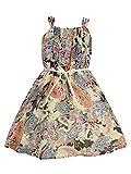 Cutecumber Girls Georgette paisley Cream Dress- (CC718D-CREAM-26)