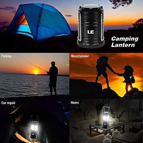 51HFoaA5e9L. SS500  - LE Portable LED Camping Lantern Outdoor 30 LEDs Flashlights IPX4 Water Resistant Lamp Battery Powered Light for Home Garden Hiking Fishing Emergency (2 Packs)
