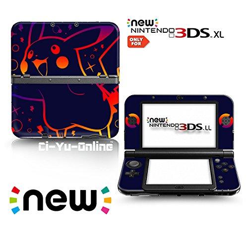 Ci-Yu-Online Vinyl-Aufkleber für Nintendo 3DS XL / LL Konsolensystem, Motiv: Pikachu Dark Spark, limitierte Auflage