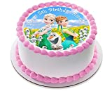 Disney Frozen Fever Elsa Anna Princess Personalized Cake Topper Icing Sugar Paper 7.5 image 3 by Fabulous Cake Toppers