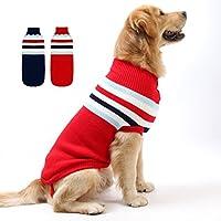 FishBabe Moda Perros Pequeños Medianos Grandes Color De Costura Suéter De Punto Para Mascotas Gatos Clima