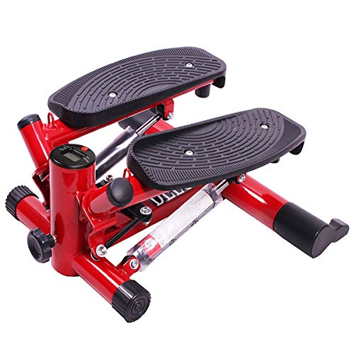 GOPLUS Mini-Stepper Fitness Stepper Side-Stepper Up-Down-Stepper Drehstepper mit Multifunktions-Display Trainingsbändern