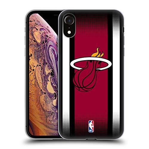 Offizielle NBA Halbton Gradient Miami Heat Soft Gel Hülle für iPhone XR Miami Heat Cellular Phone Case
