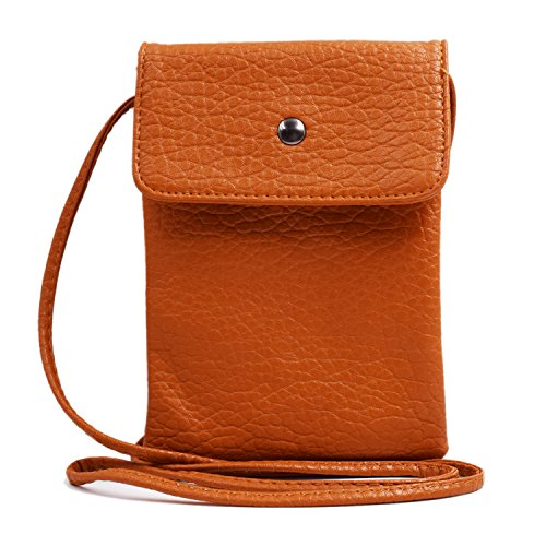 WITERY , Damen Umhängetasche Elegant Brown 7.5''x 5''x 1'' (Top Xhilaration)