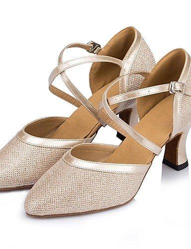 ShangYi Chaussures de danse (Noir/Argent/Or/Autre) - Non personnalisable - Gros talon - Paillettes scintillantes - Moderne