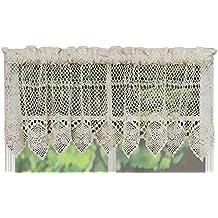 Creative Linens algodón Crochet encaje cocina cortina hilos hecho ...