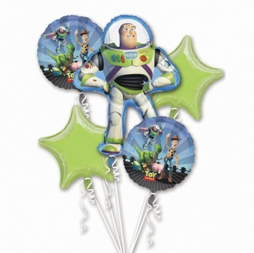 lloon Birthday Party Favor Supplies 5ct Foil Balloon Bouquet by Beyondstore ()