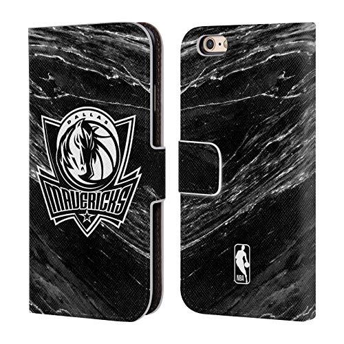 Head Case Designs Offizielle NBA S&W Marmor Dallas Mavericks Leder Brieftaschen Huelle kompatibel mit iPhone 6 / iPhone 6s - Maverick Leder