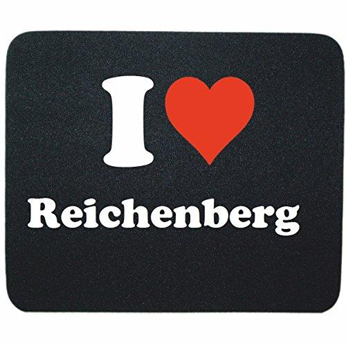 """Exklusive Geschenkidee: Mauspad """"I Love Reichenberg"""" in Schwarz, eine tolle Geschenkidee die von Herzen kommt- Rutschfestes Mousepad- Weihnachts Geschenktipp"""