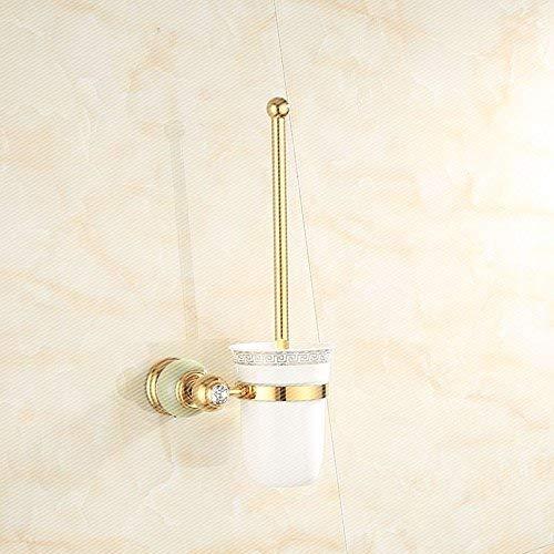 LANTA Home Alle Kupfer Natürliche Jade Badetuchhalter Bad Marmor Gold Handtuchhalter Racks Yu Toilettenbürste -