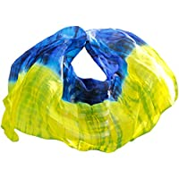 YI NA SHENG WU Danza del vientre Velo de seda Authentic Silk Veil Danza del vientre Accesorios Mezcla de color C (250 X 114 cm)