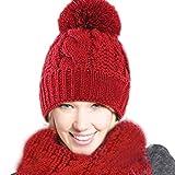 Modaworld Frauen Warme Woolen Strick Hood Schal Caps Hats Suit Winter Baby Kinder Mädchen Jungen Warm Woll Haube Kapuze Kappen Hüte Wintermütze Halstuch Baumwollschal Warme Schlauchschal