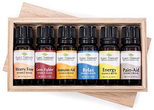 Top 6 Essential Oil Synergies Sampler Set 100% Therapeutic Essential Oil Blends (Erkältungen Grippe-massage-Öl &)
