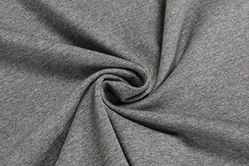 Cravog T-Shirt tops lange Damen-Frauen-beiläufige O-Ansatz lange Hülsen-Patchwork dünnes Tops Schwarz Und Grau