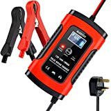 BUDDYGO Car Battery Charger, Battery Charger & Maintainer, 6A 12V Fully Automatic Battery Charger with LCD Screen, Used to Charge, Maintain And Repair Batteries for Various Vehicle