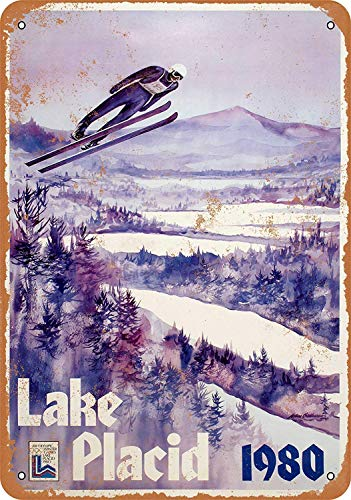 Sary buri Lake Placid Winter Olympics Wandkunst Garage Club Bar Dekoration -