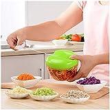 ZFFLYH Vegetable Chopper, Pull String Manuale Cutter Food Processor Aglio Masher Frutta Cipolle Insalata Accessori Mincer Blender Domestica da Cucina
