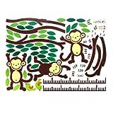 Cadilllaps Affen Klettern Bäume Wandaufkleber Messlatte Kinderzimmer Dekro