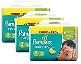 Pampers Baby Dry Größe 3 Midi 4-9kg Jumbo Plus Pack (3 x 90 Windeln)