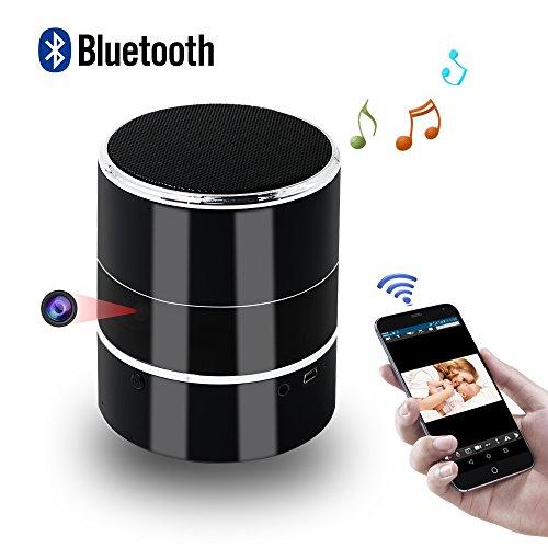 La cámara oculta se ve como un altavoz Bluetooth, no solo es un altavoz Bluetooth real, sino también una cámara de videovigilancia, nadie se dará cuenta de que es una cámara espía.  Características principales: Altavoz Bluetooth de música Grabación d...