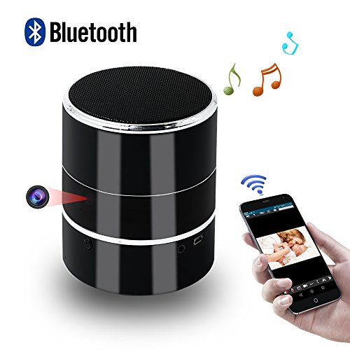Caméra Espion, HD Mini Hidden Spy Cam Enceinte Bluetooth TANGMI ... 299209b8e851